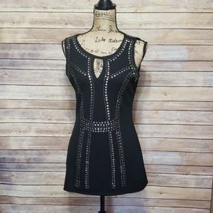 Cache Aztec Design Sleevless Dress